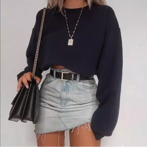 Cropped Sweatshirt / Black